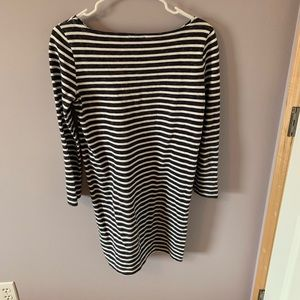 Gap navy and white striped dress